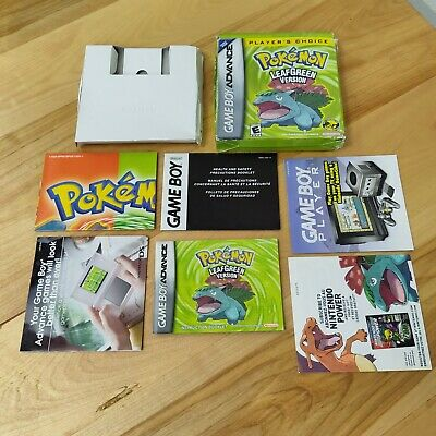 $139.99 • Buy Pokemon Leaf Green Box, Manual, And Inserts Only NO GAME INCLUDED Authentic