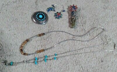 £19.99 • Buy Native American Sterling Silver 925 Jewellery Bundle Turquoise 3 DAY AUCTION