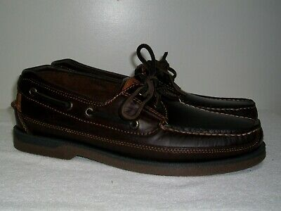 £47.52 • Buy New Men's Sperry Top-Sider Mako 2 Eye Moccasin Leather Boat Shoes Amaretto 8.5M
