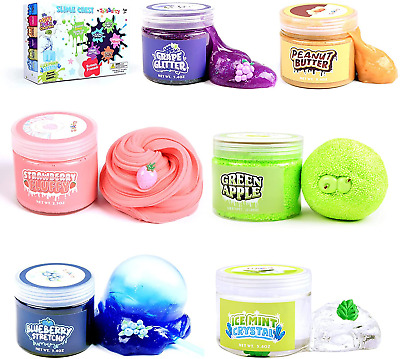 AU43.32 • Buy Slime Kit For Girls Boys, 6 Different Scented & Premade Slimes In 28 Oz Containe