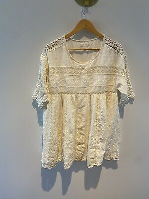 AU60 • Buy Spell Designs White Lace Mini Dress Size Small