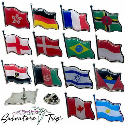 £1.99 • Buy Pin BADGE Country Flag Lapel Nation State HIGH QUALITY Metal Enamel 200+ OPTIONS