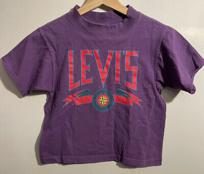 AU82.80 • Buy Levis Vintage Clothing Sportswear Tee T Shirt XS Size 7 Big E Spell Out USA Made