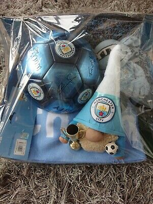 £30 • Buy Manchester City Gift. Signed Ball, Scarf, Gonk And Mascot