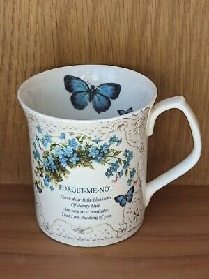 £10 • Buy Past Times Fine Bone China Forget Me Not Mug Thinking Of You