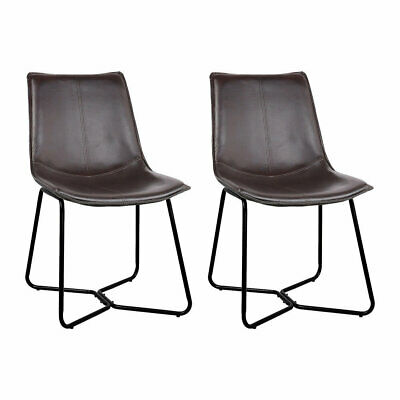 AU141.99 • Buy New Set Of 2 PU Leather Dining Chair - Walnut
