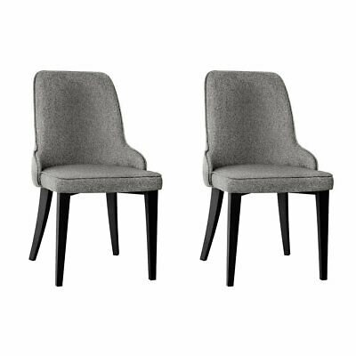 AU179.99 • Buy New Set Of 2 Fabric Dining Chairs - Grey