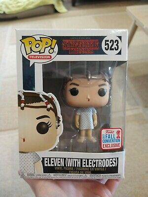 AU14 • Buy Eleven With Electrodes Stranger Things NYCC Funko Pop Vinyl