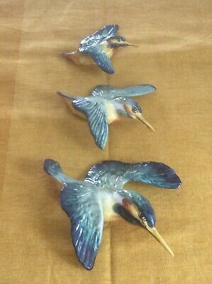 £200 • Buy Beswick Vintage Kingfisher Wall Plaques