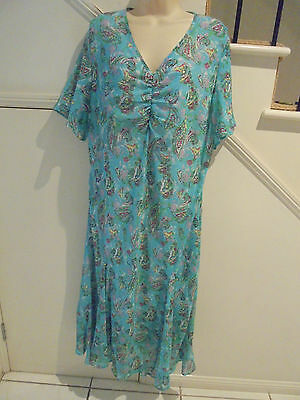 AU22.49 • Buy Rene Taylor Size 20 Nwot Torquoise Pattern Lined Dress Special Occasion
