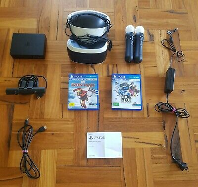 AU199 • Buy Sony PlayStation VR Headset With Camera And Controllers And 2 Games.