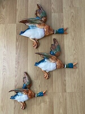 £40.78 • Buy Beswick Set Of 3 Graduated Flying Duck Wall Plaques