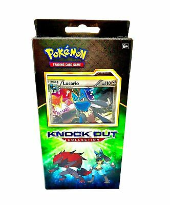 $99 • Buy 4X Pokemon LUCARIO Knockout Collection Box (Booster Packs Cards Coin) SEALED