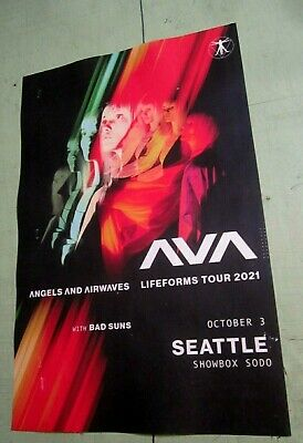 $20 • Buy Angels And Airwaves Seattle Original Concert Show Poster Blink 182