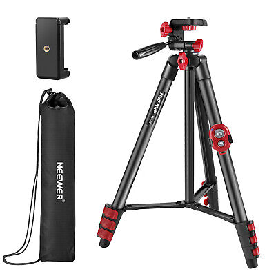 £20.99 • Buy Neewer Tripod Kit, 54-Inch Travel Tripod With Pan Head, Remote, Carrying Bag