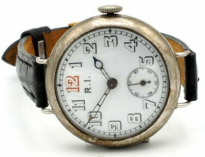 £397.39 • Buy R.I. By Beguelin & Co. WW1 Trench Watch 7 Jewels Swiss Made Runs