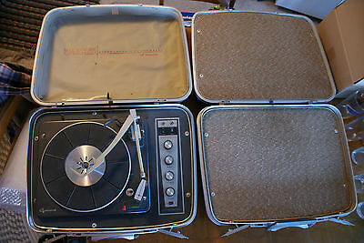 £869.66 • Buy Old Vintage Suitcase Record Player Masterwork Fidelity Garrard Stereo Phonograph