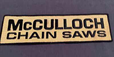 £18.10 • Buy Vintage McCulloch Chainsaws / Chain Saws Tree Cutting 9  Employee Jacket PATCH