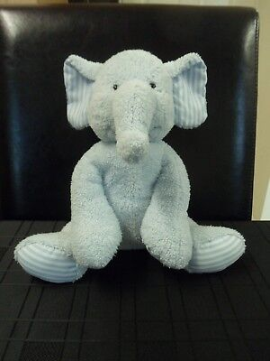 £4.99 • Buy Mothercare 9  Blue Elephant With Striped Ears & Feet Plush Soft Toy
