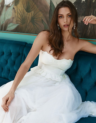 AU495 • Buy Spell & The Gypsy Collective BNWT Zoe Tulle Gown Off White Dress Size XL