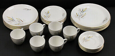 £20 • Buy Barratts Delphatic White 'Ears Of Corn' 32 Piece Tableware. Cups/saucers/plates