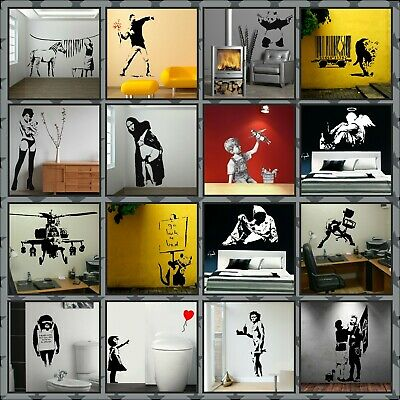 £5.49 • Buy New Banksy Wall Art Stickers Choice 16 Designs 6 Sizes A4 - Lifesize 14 Colours