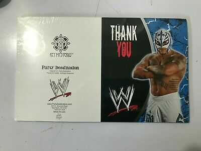 £6.50 • Buy Wwe 2011 Rey Mysterio Thank You Cards  Birthday Party Gifts 8 Pack