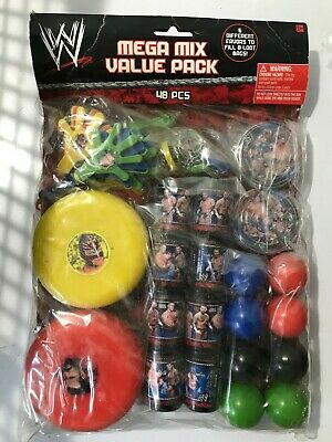 £14.49 • Buy  Wwe Birthday Party 48 Piece Mix 6 Party Favors To Fill 8 Loot Bags Cm Punk Bags