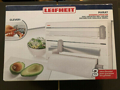 £17.99 • Buy Leifheit Parat Wall-Mounted Foil, Cling Film And Kitchen Roll Holder Dispenser