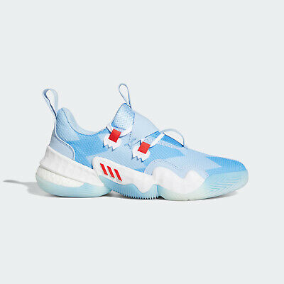 AU235.95 • Buy Adidas Trae Young 1 [H68997] Men Basketball Shoes Ice Trae Bahia Light Blue/Red