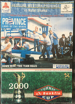 £2.95 • Buy 2000 Western Province V Natal Sharks - Currie Cup Rugby - PROGRAMME