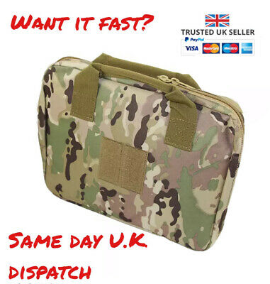 £12.99 • Buy Airsoft Padded Nylon Pistol BB Gun Bag / Carry Case Multicam Patch Customisable