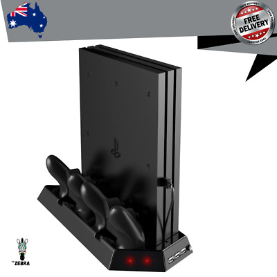 AU44.25 • Buy Vertical Stand For PS4 Pro With Cooling Fan Controller Charging Station Console