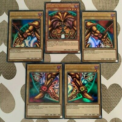 £14.85 • Buy ☆ Ultra Rare Exodia The Forbidden One Full Set - All 5 Cards/pieces YGLD YuGiOh!