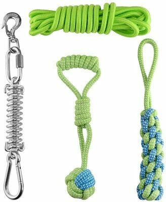 £45.49 • Buy Hj Ang Outdoor Stainless Steel Spring Pole Hanging Bungee Exercise Dog Rope Toys