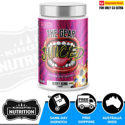 AU78.95 • Buy Max's THE GEAR JUICED - 30 Serves BERRY BOMB Testosterone Boosting Powder