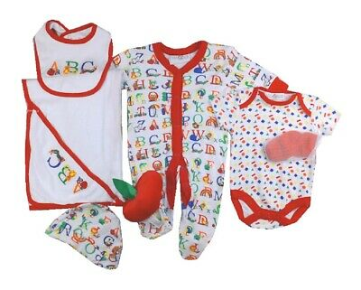 £11.95 • Buy Baby Boys Layette Clothing Gift Set Age 3 6 Months ABC Wrap Starter Outfit & Toy