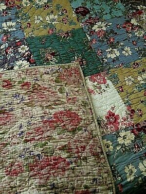 £66.50 • Buy Vintage John Lewis 100% Cotton Durham Style Patchwork Country Quilt ~ King Size
