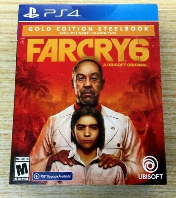 AU148.59 • Buy NEW Far Cry 6 Gold Steelbook Edition- Playstation 4 PS4 / PS5 UPGRADE SHIPS FAST