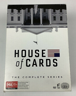 AU49.95 • Buy House Of Cards Season 1-6 Complete Series DVD (23 Disc Set) Kevin Spacey EUC