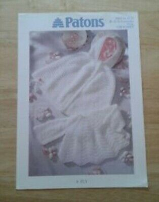 £0.99 • Buy PATONS No PBN D 6272 BABIES WHITE CAPE AND ANGEL TOP 4PLY CROCHET PATTERN