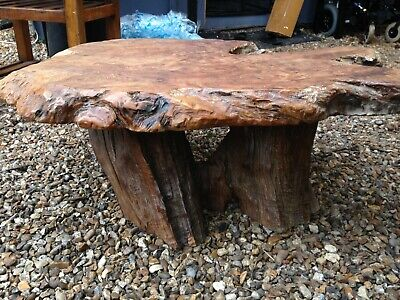 £550 • Buy A Large, Heavy, Well Made, Solid Wooden Root Tree Trunk Coffee Table - 120x78 Cm