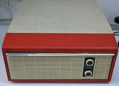 £39.99 • Buy Red / Grey Fidelity Solid State 1960s Record Player For Servicing