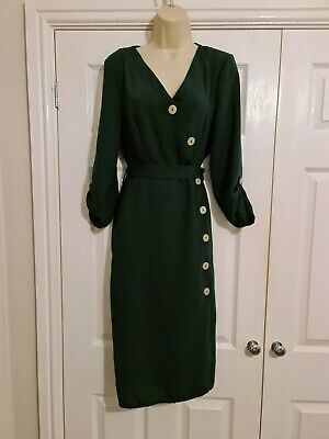 £12 • Buy Bnwt Ladies Green Button Front Dress Size 12