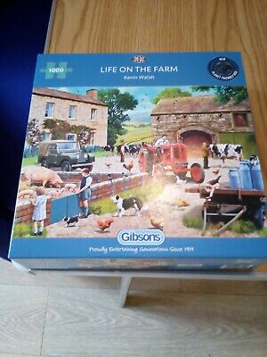 £4.49 • Buy Gibson's 1000 Piece Jigsaw Puzzle - Life On The Farm (Kevin Walsh) -VGC