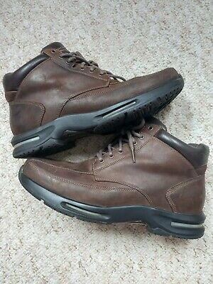 £26.01 • Buy Mens Brown Waterproof Rockport Boots, Size 10 Wide Fit With Adidas Torsion Sole.