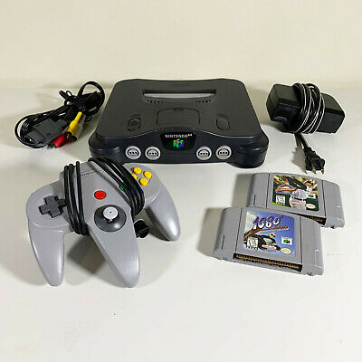 AU166.37 • Buy Nintendo 64 N64 Console Bundle W/ 2 Games, Controller & Cables - TESTED & WORKS