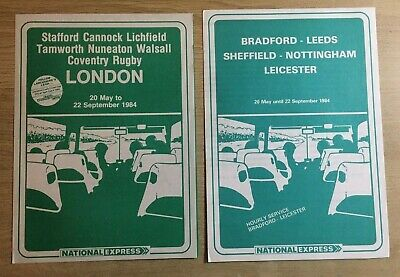 £2.40 • Buy NATIONAL EXPRESS COACHES  TIMETABLES X 2 NATIONAL BUS Early BUNDLE 1984