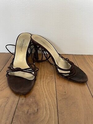 £4 • Buy Dolce & Gabbana Brown Suede Strappy Shoes Size 5UK