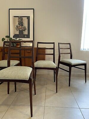 AU650 • Buy Authentic Mid Century Australian PARKER Furniture Dining Chairs X 4